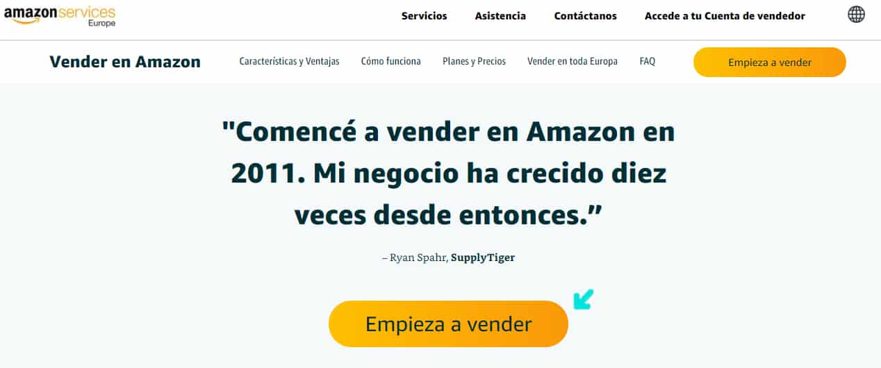 Como crear una cuenta en Amazon en español
