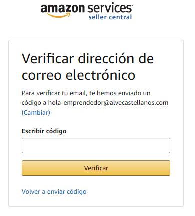 Como crear una cuenta para vender en amazon correo electronico en Español