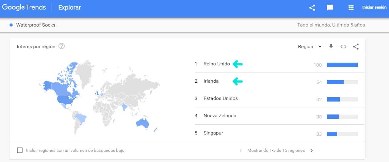 Como vender en amazon google trends pais 1