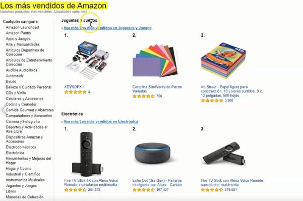 Lo más Vendido de Amazon